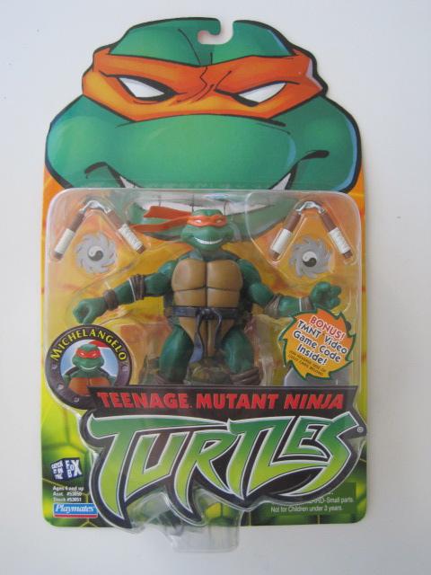 Michelangelo e Donatello in blister, serie 2003 Tartarughe Ninja, Turtles, TMNT. no MOTU no CdZ no J.I. Joe no combattini                                                                                        Tmntmi10