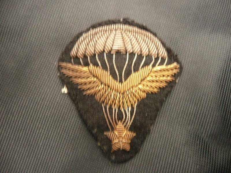 2 brevets de parachutiste et un sifflet P1030410