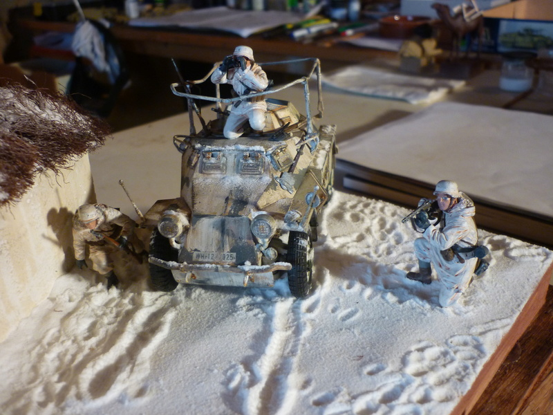 Front de l'Est en hiver (SdKfz 223 1/35 Tamiya + personnages Dragon et Tank) - Page 11 P1080019