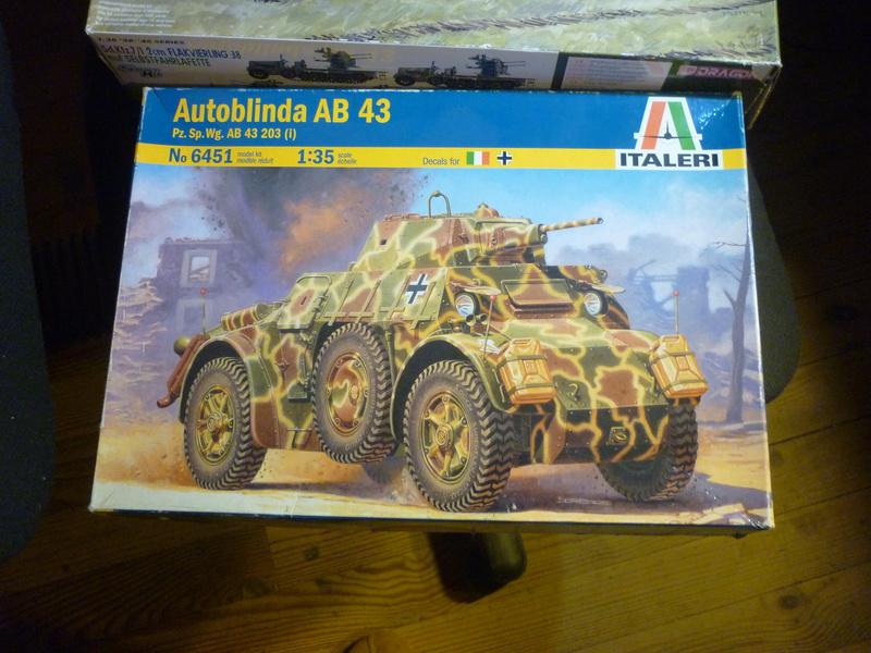 "Chasse au partisan - Yougoslavie 1943 ""Prinz Eugen"" - Autoblinda Ab 43 italeri + Sd.Kfz 7/1 2cm Flakvierling 38 +  6 personnages Alpine 1/35 P1080025"