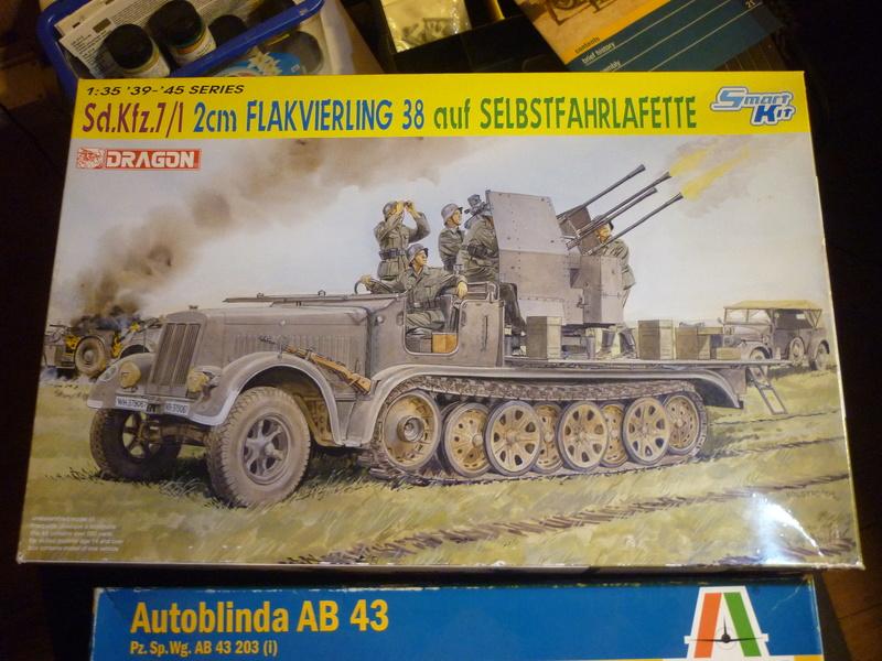 "Chasse au partisan - Yougoslavie 1943 ""Prinz Eugen"" - Autoblinda Ab 43 italeri + Sd.Kfz 7/1 2cm Flakvierling 38 +  6 personnages Alpine 1/35 P1080026"