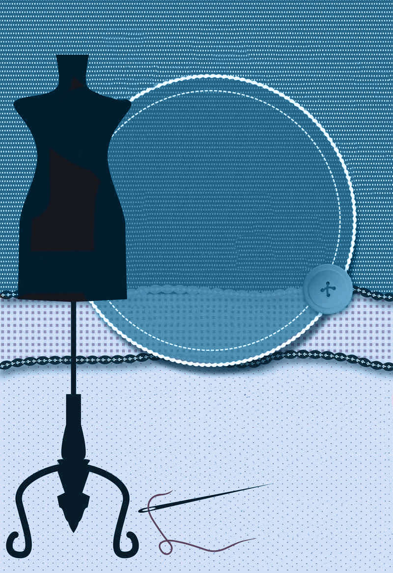 Affiche pour un atelier couture Bleu10