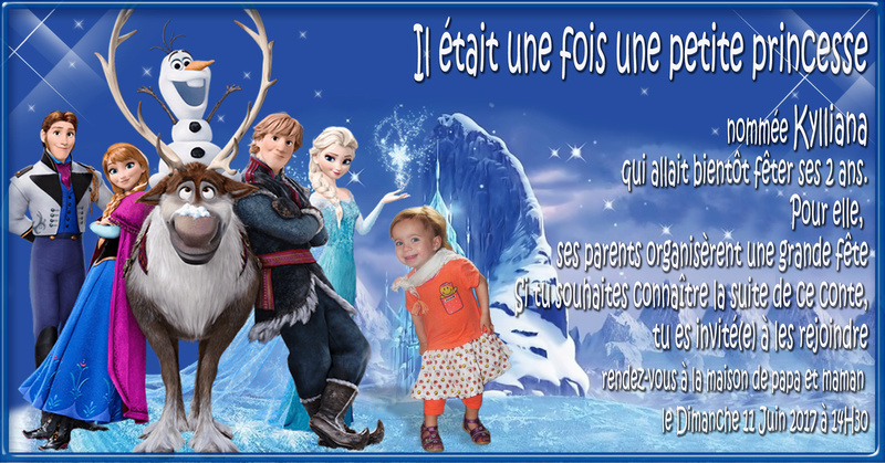 demande Invittation anniversaire de ma fille et carte anniversaire  Frozen10