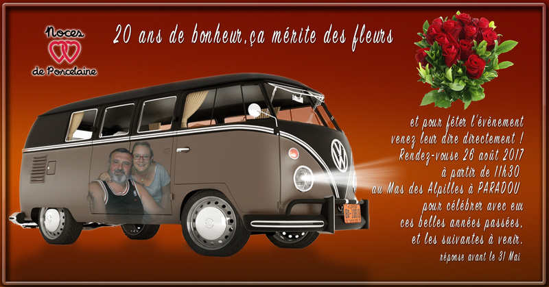 INVITATION 20 ANS MARIAGE Noce11