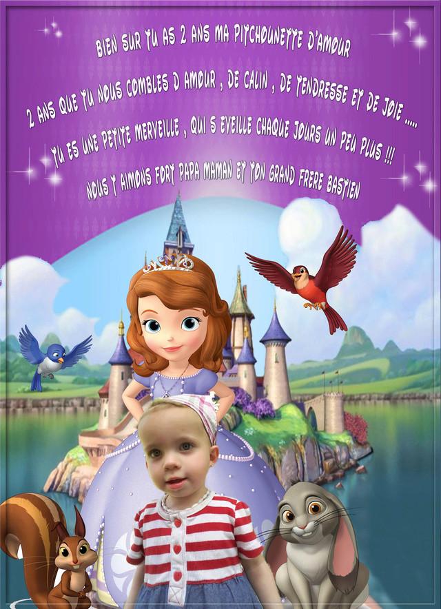 carte anniversaire Por les 2 ans Kylliana  Sofia111