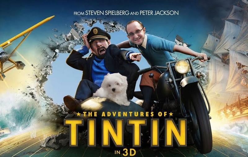 Anniversaire de mon jumeux, affiches cinéma pour film montage Tintin10