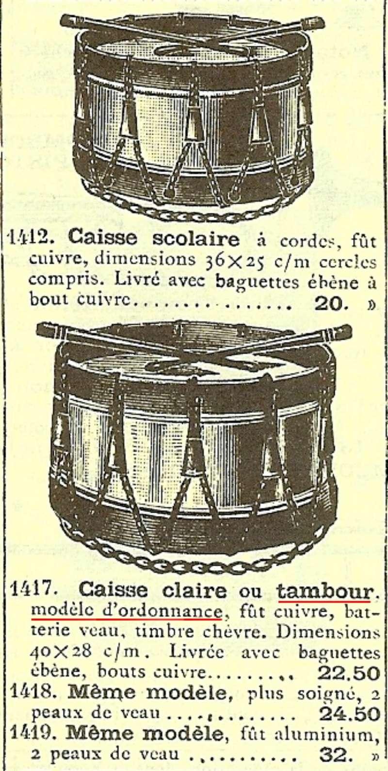 Les instruments de musique : caisses - tambours - clairons - trompettes  - Page 3 Tambou10