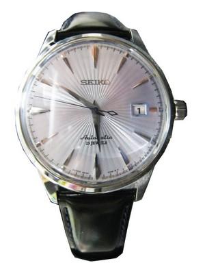montre louis pion look vintage fond clair couleur or rose cuir marron Sarb0610