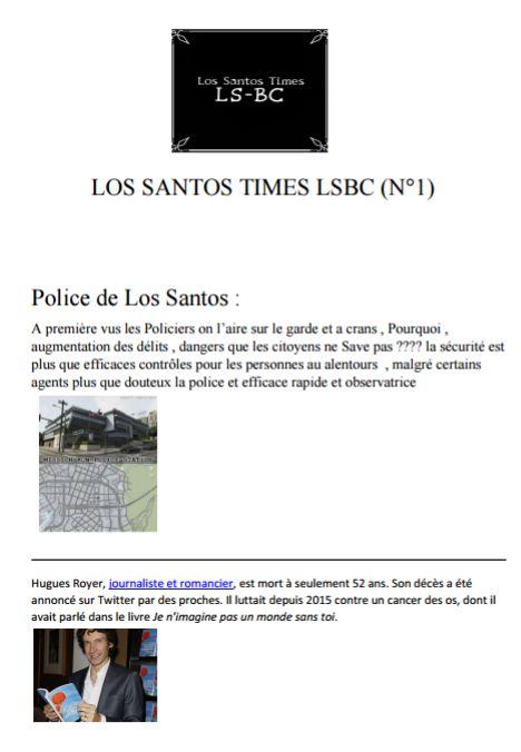 Los Santos Times LSBC N1 18485310