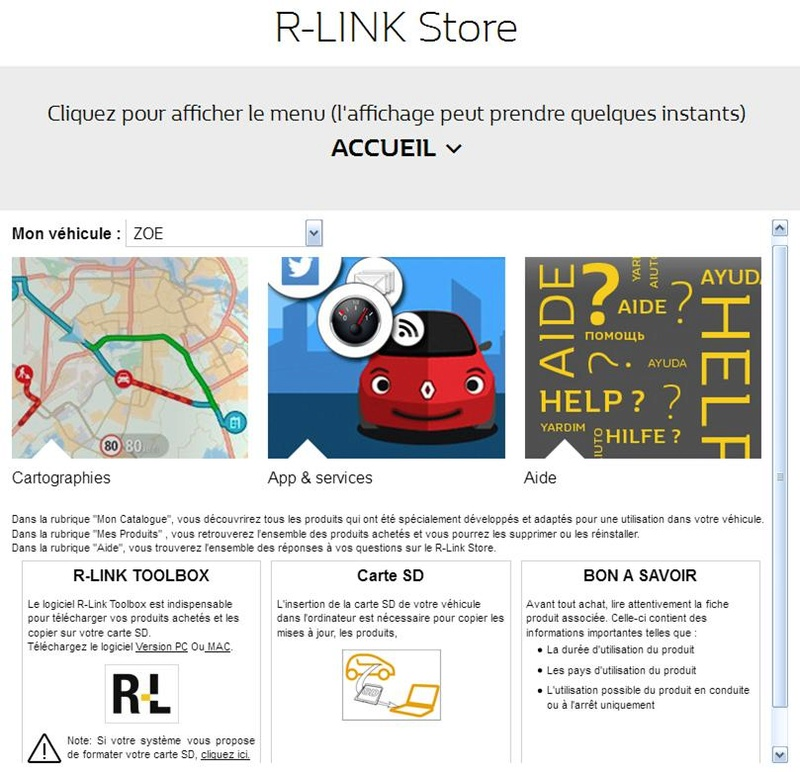 Rlink, mise à jour 11.341.2539977-8039 R-link10