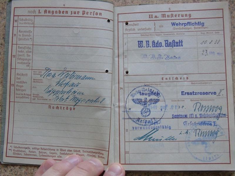 Traduction Wehrpass et Soldbuch Luftwaffe Dsc03213