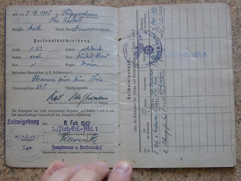 Traduction Wehrpass et Soldbuch Luftwaffe Dsc03220