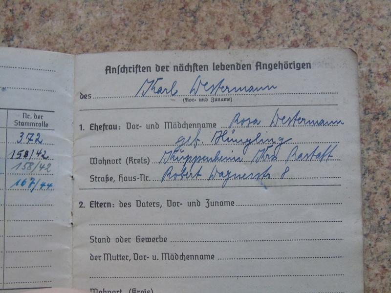 Traduction Wehrpass et Soldbuch Luftwaffe Dsc03222