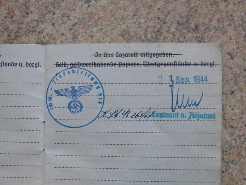 Traduction Wehrpass et Soldbuch Luftwaffe Dsc03225