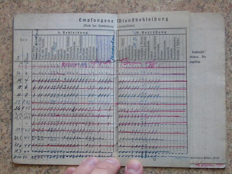 Traduction Wehrpass et Soldbuch Luftwaffe Dsc03226