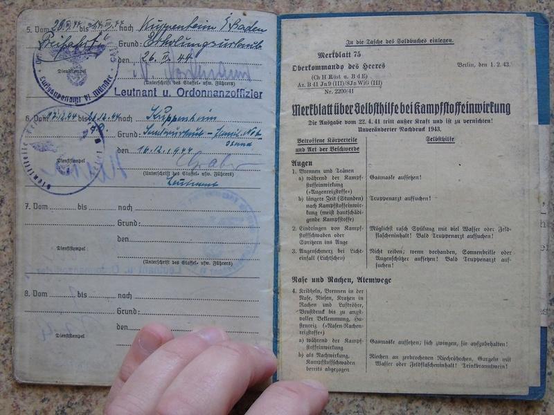 Traduction Wehrpass et Soldbuch Luftwaffe Dsc03231