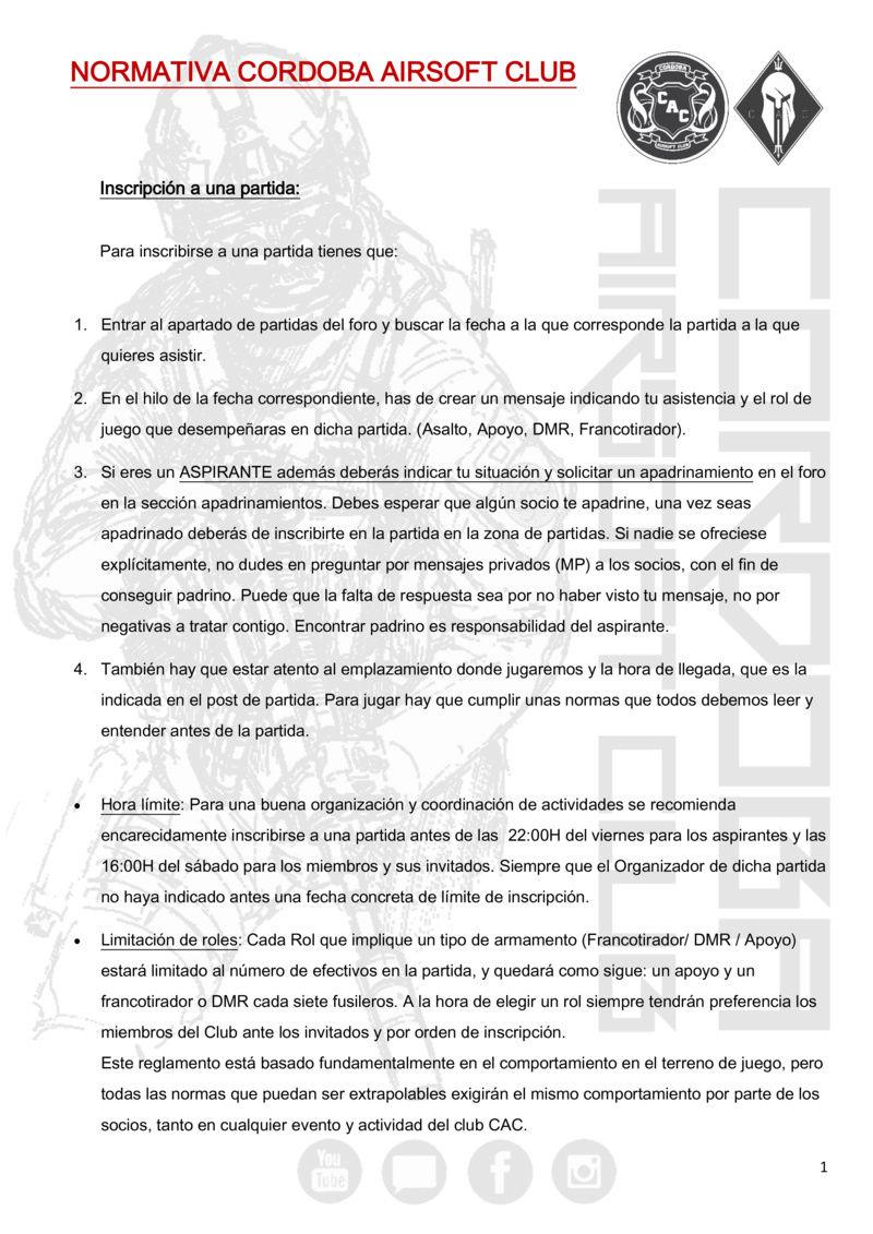 REGLAMENTO COMPLETO CAC Normat10