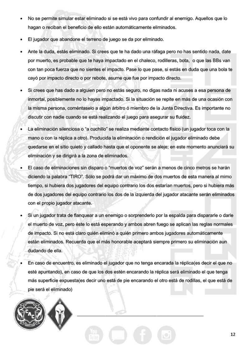 REGLAMENTO COMPLETO CAC Normat19