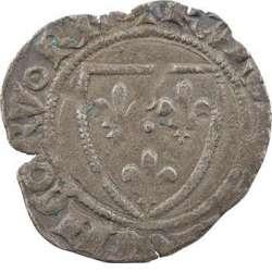 Duc de Bourgogne (au nom de Charles VI) - Demi-guénar de Mâcon, 3e émission.  Macon_10