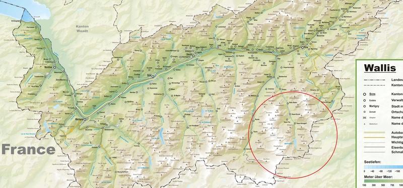 Alpinismo: 10-19 agosto 2017 - Cuatromiles de iniciación en los Alpes (Valais) Canton10