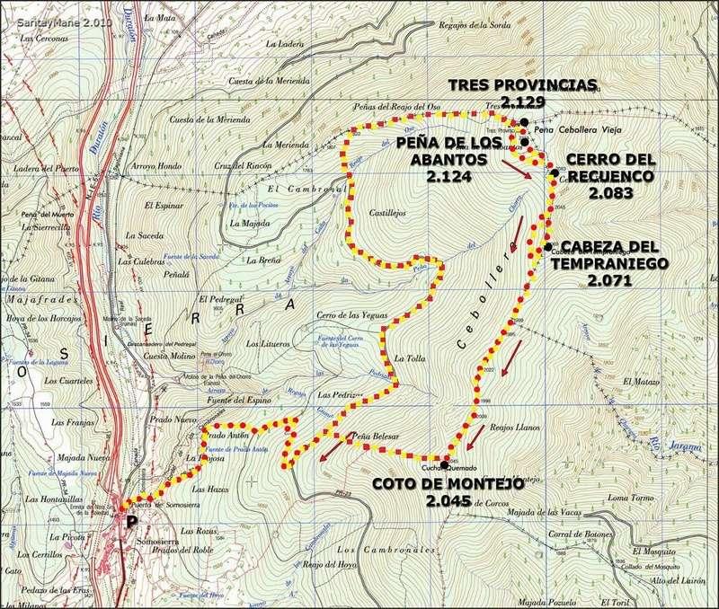 Alpinismo: domingo 5 de marzo 2017 - Ascensión al pico Tres Provincias [CANCELADO] Mapa_t11