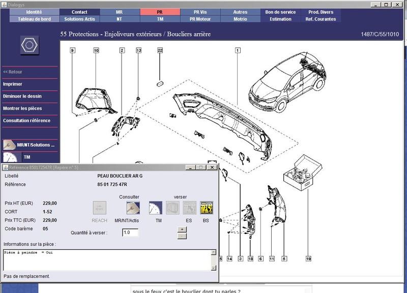 [Frederic69] Renault Captur -Aile AR cassée Ref_bo10