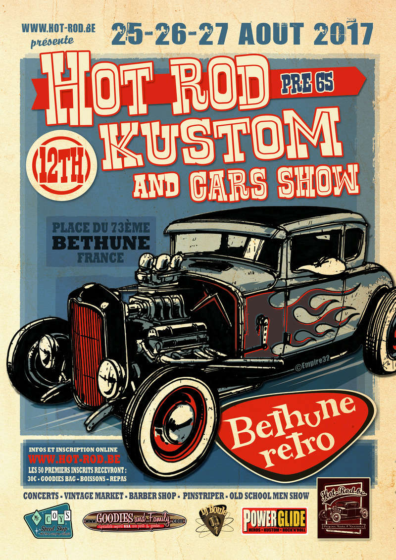 12th Hot rod, kustom and Car Show pré 65 à Béthune retro Bethun10