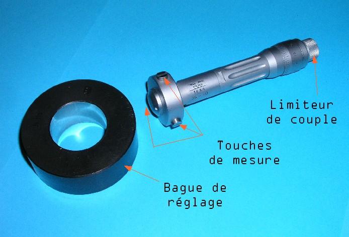Mesure de l'alésage cylindre Microm10