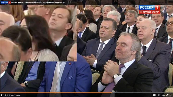 12 июня 2017 г Церемония вручения Государственных премий Российской Федерации за 2016 г, Кремль, Москва  Ieaz210