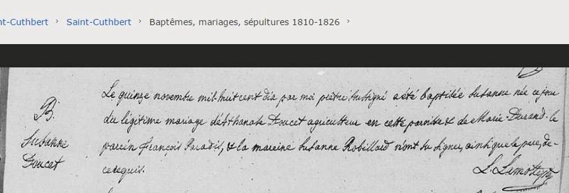 Marguerite Doucet ses parents Bsusan10
