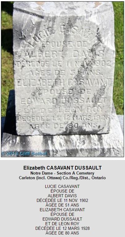 Francois-Xavier Trudel Marie Casavant  Decesc10
