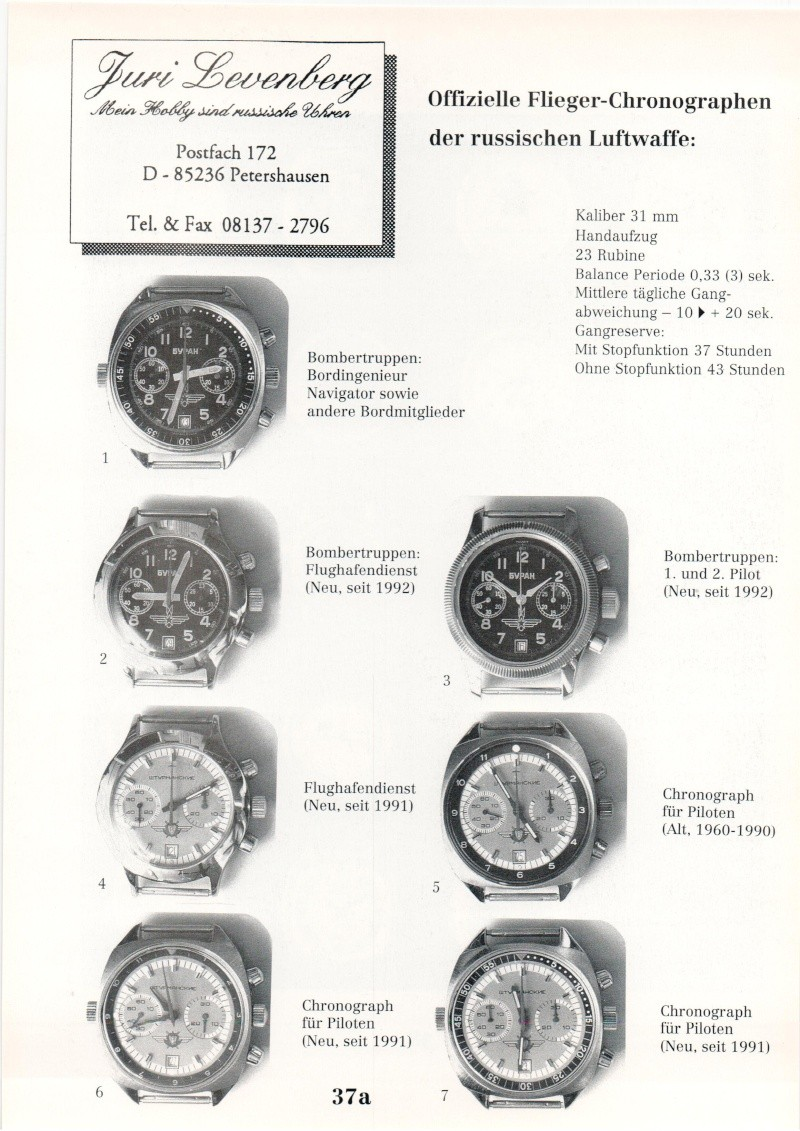 Marques d'emprunt ou d'exportation des montres soviétiques Numeir11