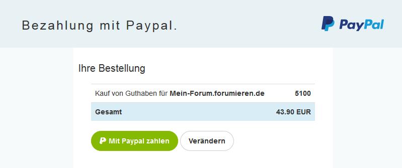 Guthaben kaufen / einsetzen - Was kostet wie viel? Paypal10
