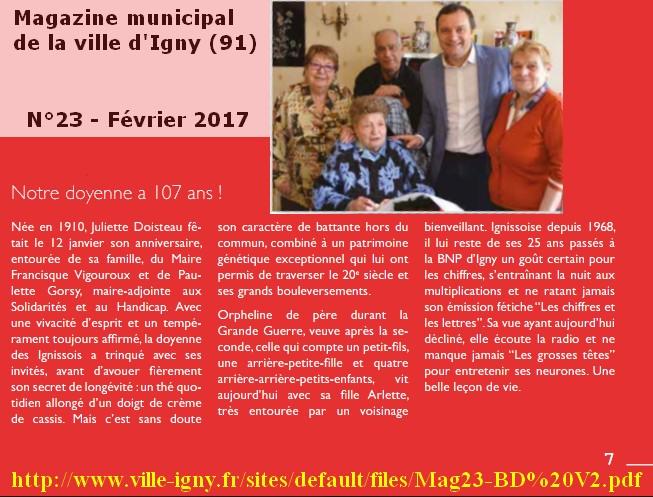 Preuves de vie récentes sur les personnes de 107 ans - Page 24 Juliet10