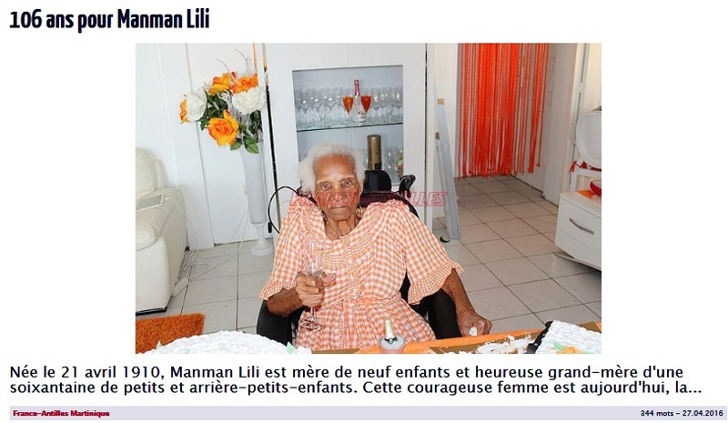 Preuves de vie récentes sur les personnes de 107 ans - Page 18 Manman10