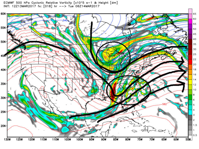 March 14, 2017 Storm In Review Ecmwf_55