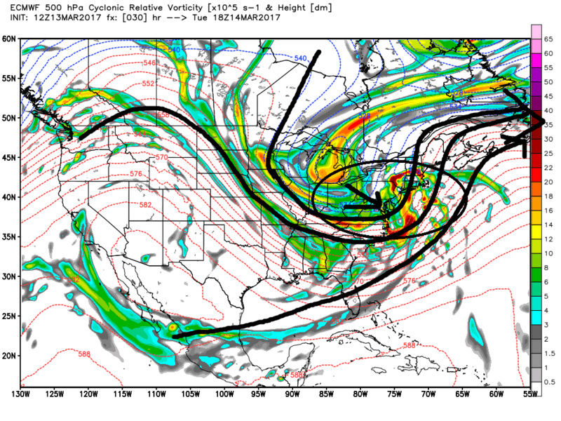 March 14, 2017 Storm In Review Ecmwf_57