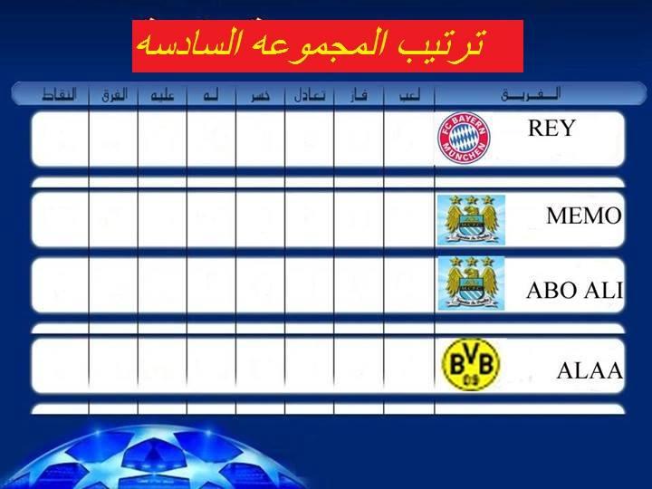 نتائج المجموعات الخامسة والسادسة (E & F ) دور الـ 32 من دوري ابطال اوربا  14587910