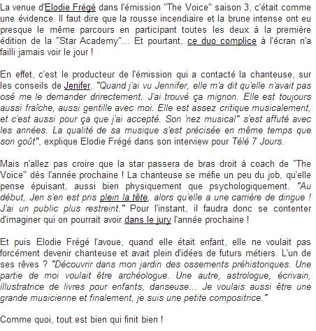 E Frégé : confessions et rêves d'enfant pour la jolie rousse (22 mars 2014) Captu131