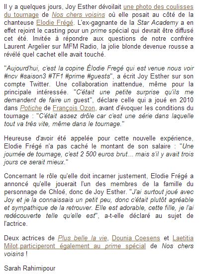 Elodie Frégé révèle son salaire pour Nos chers voisins (24 avril 2014) Captu142