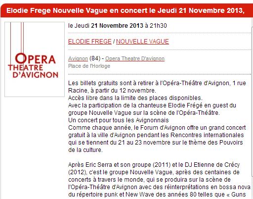 """Concert """"Nouvelle Vague"""" à l'Opéra Théâtre d'Avignon (21 nov 2013) Captur38"""