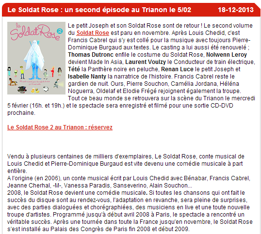 """Concerts """"Le Soldat Rose 2"""" au Trianon de Paris (05 février 2014) Captur72"""