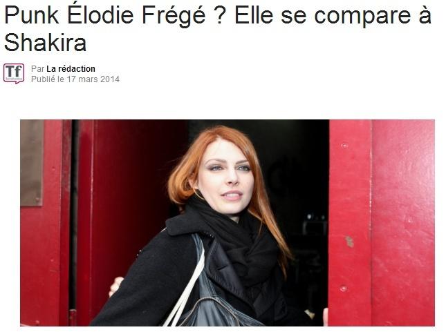 Punk Élodie Frégé ? Elle se compare à Shakira (17 mars 2014) Captur75