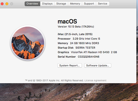 MacOS High Sierra 10.13 Beta 111