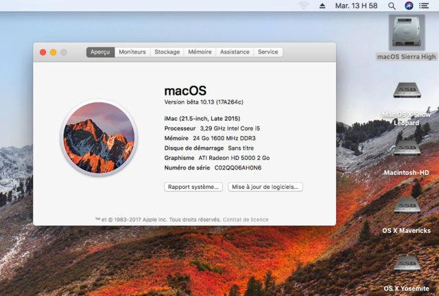 MacOS High Sierra 10.13 Beta 112