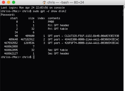 Formatage Partition EFI ou recréer une partition EFI Captu171