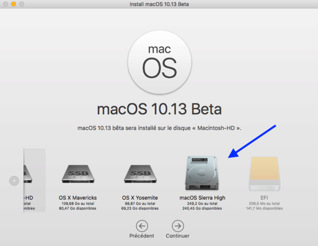 MacOS High Sierra 10.13 Beta Captu262