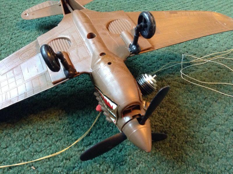 Run of my Testors fly 'em' P40 P-40_b10