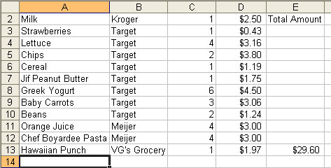 Assignment 13: Excel Part I (Food Stamp Challenge) due May 8 - Page 2 Fooooo10