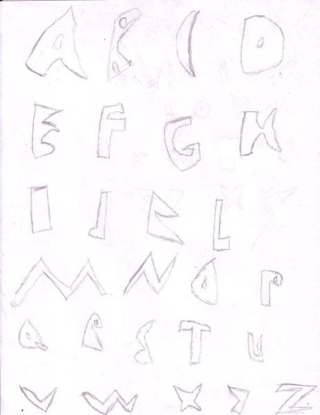Assignment 12: Graffiti Alphabet due Oct 22 Abc10